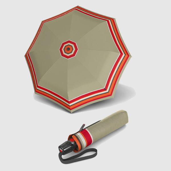 Paraguas antiviento plegable con varillas de fibra y acero
