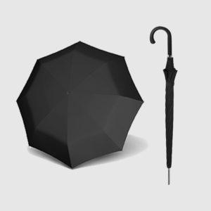 Paraguas para hombre negro con garantía 5 años Doppler Carbonsteel