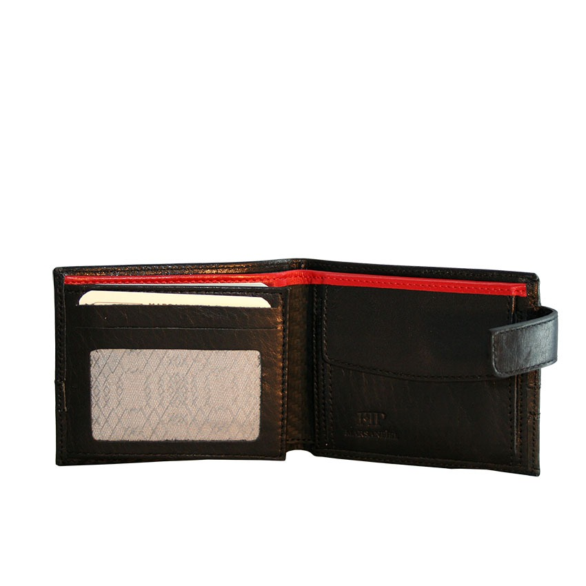 c4489e06e Esta cartera tipo americana. 2 transparentes y 2 ocultos además del  monedero y billetero. La combinación de piel de