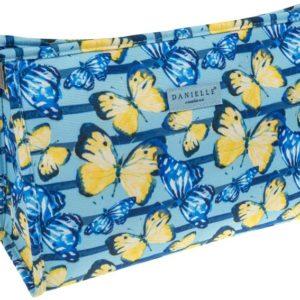 La nueva colección de mariposas de la marca Danielle nos trae un estampado original y colorista. Este neceser tiene mucha capacidad para que lleves todo cuanto necesitas de viaje sin dejar nada atrás. Su interior te sorprenderá por la calidad de su acabado.