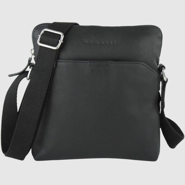 Bolso con bandolera de hombre fabricada en piel por la marca Bugatti. Forma parte de la nueva colección Segno. Un bolso