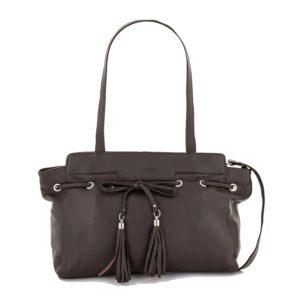 Elegante bolso de señora en cuero de primera calidad