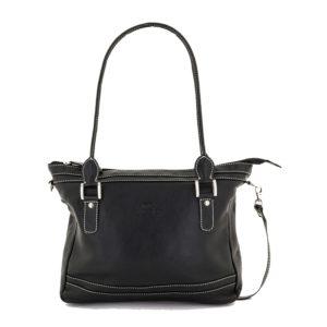 Original y elegante bolso de señora disponible en colores negro o topo