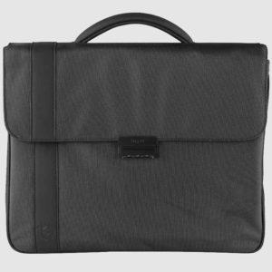 Bolso maletín de hombre fabricada en piel por la marca Bugatti. Forma parte de la nueva colección Domani. Un maletín de grandes dimensiones con varios compartimentos interiores con cremallera y apartados para llevar múltitud de objetos