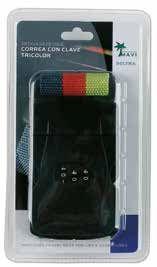 Con esta cinta de nylon con combinación y clave de seguridad