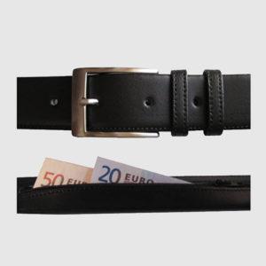 cinturon antirrobo para guardar billetes
