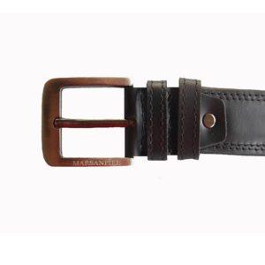 Este original cinturón no destaca por un diseño vanguardista todo lo contrario