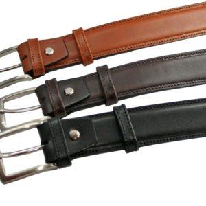 Cinturón de piel de primera calidad para hombre elegante