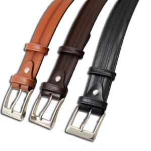 Cinturón de piel para caballero