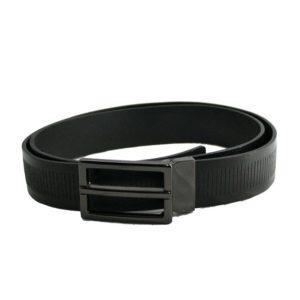 Estupendo cinturón de piel para hombre con hebillatipo chapa. La piel de este cinturón es de primera calidad