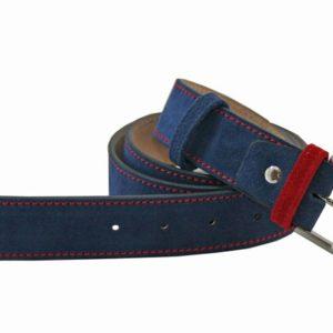 cualquier pantalón que te pongas parecerá otra cosa. Y es que la combinación de colores con el pasador y el pespunte reestructuran el concepto básico del cinturón de serraje. Es el complemento de hombre perfecto para un calzado en este tipo de piel.