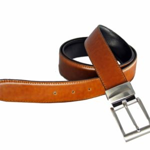 Cinturón reversible de caballero Márquez. Con este modelo de cinturón tendrás 2 cinturones en 1