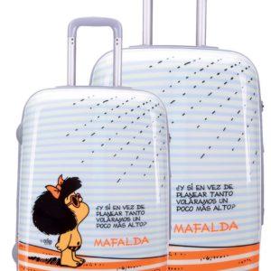 Conjunto de maletasde viaje Mafalda. Tus viajes y tus escapadas no volverán a ser iguales con estas magníficas maletas. Además de la calidad de sus acabados