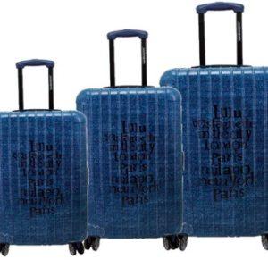 Conjunto maletas de viaje LuluCastagnette. La nueva colección Blues usa las principales ciudades del mundo como diseño principal de estas maletas de colores brillantes. Su material hace que sean resistentes para soportar infinitos viajes. Tienen un cierre de calidad