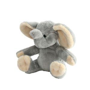 Peluche de tacto suave con forma de elefante. Ideal para regalar a tus hijos