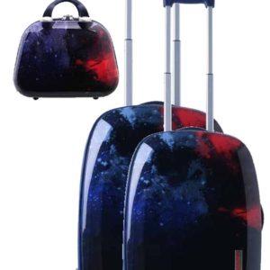 Juego de 2 maletas espacio exterior con neceser