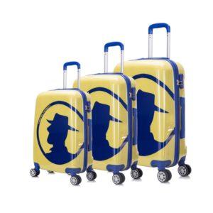 Juego de maletas de viaje para chico de la marca Coronel Tapioca. Y es que la marca más aventurera ha creado estas maletas para que te acompañen a lo largo de miles de kilómetros