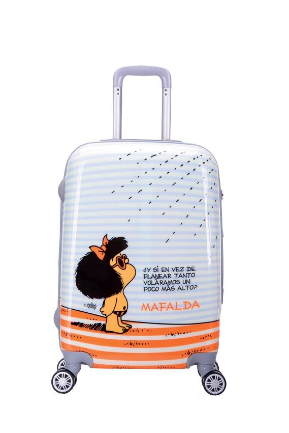 Maleta de viaje mediana de la marca Mafalda. Tus viajes y tus escapadas no volverán a ser iguales con estas magníficas maletas. Además de la calidad de sus acabados