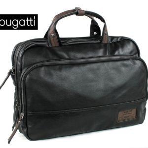 Maletín con bandolera para llevar el portátil fabricado por la marca Bugatti. Si eres de los que llevan la oficina encima