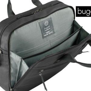 bandolera y asas que permiten un fácil transporte y cintra trasera para poder sujetarla a una maleta.