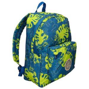 """Goodyear incluye en su colección de mochilas """"Choper"""" este original y divertido estampado hawaiano de colores vivos en un producto que dispone de compartimento principal y bolsillo frontales"""