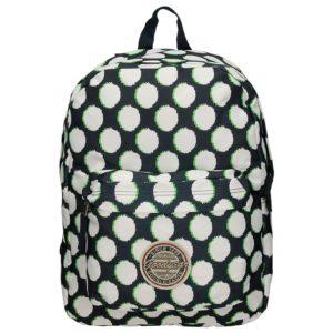La prestigiosa marcaGoodyear vuelve a sorprendernos con este original y divertido diseño de lunares para esta mochila