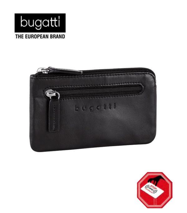 Un monedero con llavero es una pieza que todos los hombres usan. Además la colección Primo de Bugatti dispone del sistema RFID certificado para bloquear las tarjetas de lectura rápida Contactless que te permiten moverte seguro por la ciudad evitando los tan comunes robos con este tipo de tarjetas.