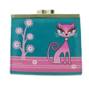 Este monedero para chica de la marca Shagwear tienetiene un diseño donde una estilizada gatita rosa se hace con el protagonismo de la pieza. Además de un diseño espectacular es de gran calidad y tiene mucho espacio.