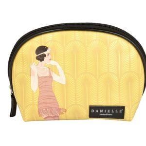 Este original bolso de mano tipo neceser que ha creado la firma británica Danielle tiene un diseño muy divertido de una mujer vestida de charleston.
