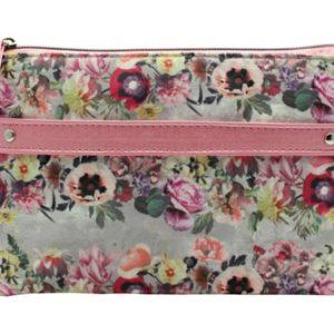 Neceser de viaje Danielle que ha elaborado la colección Floral Garland en tonos rosas y grises