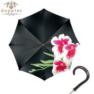 Paraguas artesanal de la marca Doppler Manufaktur. La serie Flores de paraguas artesanales de Doppler ilustra en un paraguas