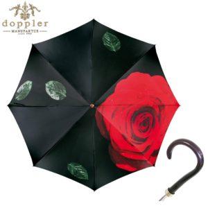 Paraguas artesanal exclusivo Manufaktur de Doppler. La serie Flores de paraguas artesanales de Doppler ilustra en un paraguas