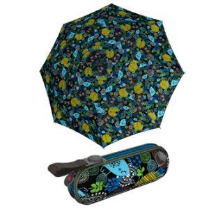 Paraguas con estuche de Knirps. Esta temporada su colección X1 nos presente su modelo Happines para que seamos más felices que nunca en nuestros días de lluvia. Esto no se debe solo a su diseño alegre sino sobre todo a su tamaño práctico y su calidad. Su estuche a juego completa las ventajas de este modelo