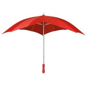 Paraguas original con forma de corazón. Dicen que el motor del mundo es el amor y el amor se representa con un corazón