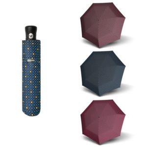 Este original paraguas de mujer lleva el sello de la marca Doppler caracterizado por sus diseños originales y sus estampados en diferentes colores. Forma parte de la colección Minore. De nuevo