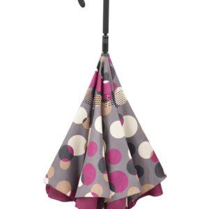 Paraguas del revés de doble capa novedad de la marca doppler. La colección Crazy nos presenta una irreverencia en el mundo de los paraguas