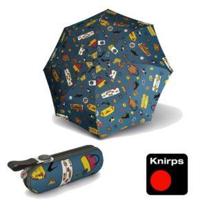 Paraguas con funda rígida Knirpsmodelo X1. La nueva colección Atlantis nos trae un diseño divertido y original donde destacan dibujos de bolsos