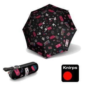 Paraguas Knirps con funda rígida modelo X1. La nueva colección Hibiscus tiene un divertido diseño donde verás varias de las cosas que mas te gustan; zapatos