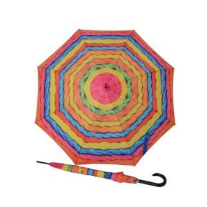 Paraguas largo de mujercon un diseño original y divertido. La marca Doppler. siempre a la vanguardia del diseño y de la moda