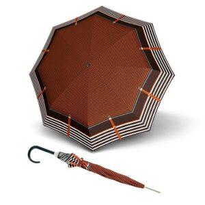 Paraguas largo marca doppler que ha creado esta espectacular colección Carbonsteel Letizia con un estampado de líneas originales y sencillas para envolver de elegancia a todo aquel que se encuentre debajo del paraguas. Con apertura automática