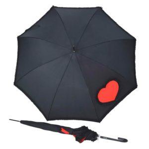 Este paraguas largo de la marca Doppler está fabricado con varillas de fibra que ofrecen alta resistencia al viento además de flexibilidad para evitar su rotura. Con su diseño señorial de color negro