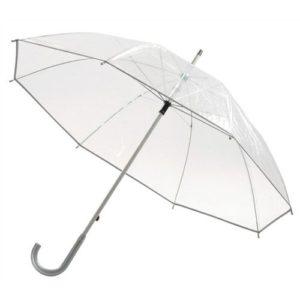 Paraguas largo transparente para señora