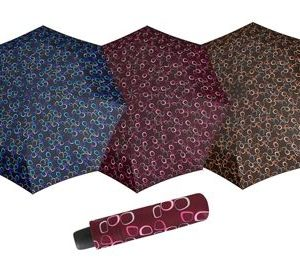 Paraguas mini mujer de dopplerque destaca por su tamaño pequeño y peso ligero y así evita ser un peso pesado en cualquiera de nuestros bolsos. Tiene un estampado original sobre un fondo de colores oscuros