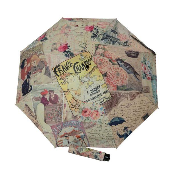 Paraguas para mujer de tamaño mini (solo mide 24 cms. cerrado) de la prestigiosa marca Doppler