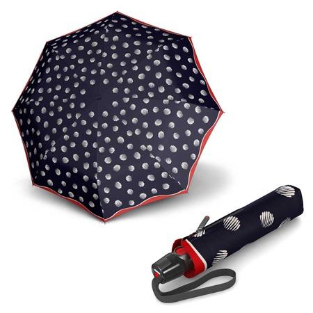 El nuevo paraguas modelo Comet de la marca Knirps presenta un diseño muy original. Los lunares que podemos ver en su tejido nos alegrarán el paseo bajo la lluvia. La nueva colección T-Series tiene varillas mucho más resistentes al viento y un botón de apertura mucho más sensible al tacto.