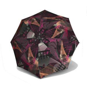 El diseño del nuevo paraguas modelo Río de la marca Knirps es muy original. Un bonito collage de estructuras