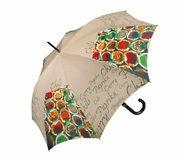 Este original paraguas de la marca Doppler  es un divertido diseño donde podemos ver una amplia gama cromática de sacos de especias en un mercado. Hay chili
