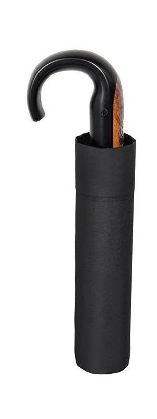 Paraguas barato tamaño plegable con empuñadura de bastón para hombre marca Doppler. Es el típico paraguas de quien no quiere paraguas