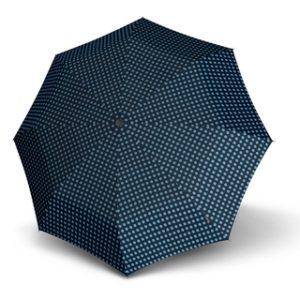 ya que es un estuche rígido que nos permitirá llevar este complemento en cualquier bolso sin preocupación de dañar al resto de cosas. Tiene un estampado elegante de lunares y es un paraguas resistente al viento.