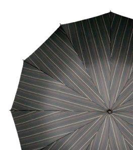 Este paraguasplegable para caballero de Doppleres tan elegante como bello. Las rayas sobre fondo gris junto con la empuñadura imitando a madera conforman un paraguas que cualquiera desearía llevar. Además de abrirlo y cerrarlo con solo apretar un botón la cremallera de su funda te facilitará guardarlo.